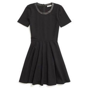 Madewell leather trim dress size XS